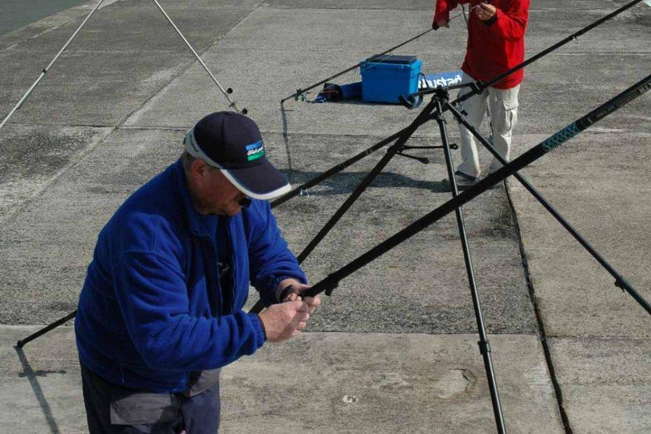 Pier fishing tactics