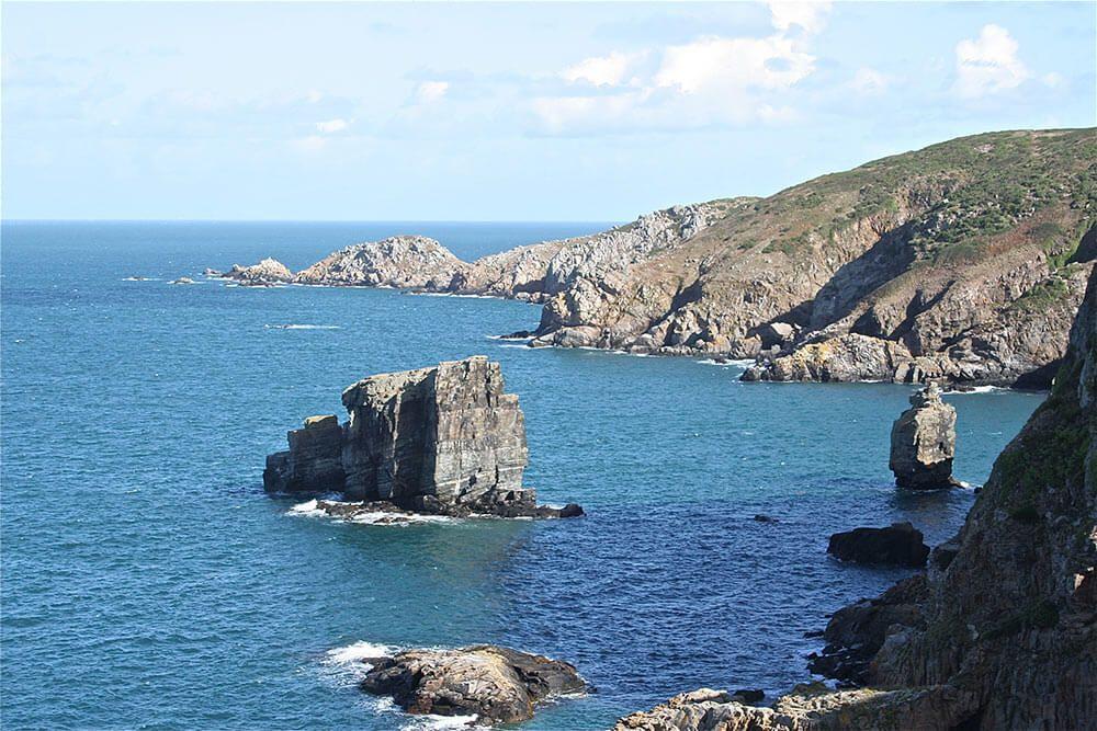 The impressive landscape of Sark
