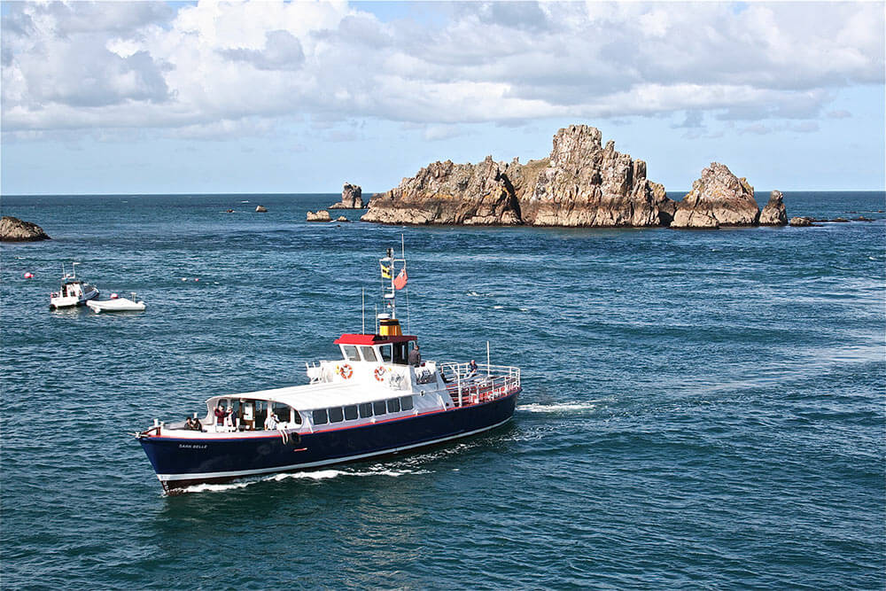 The passenger ferry from St Peters Port to Sark