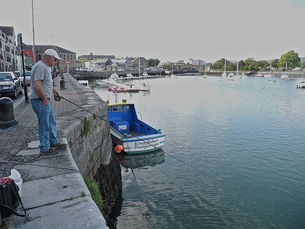 Floatfishing in an Irish harbour