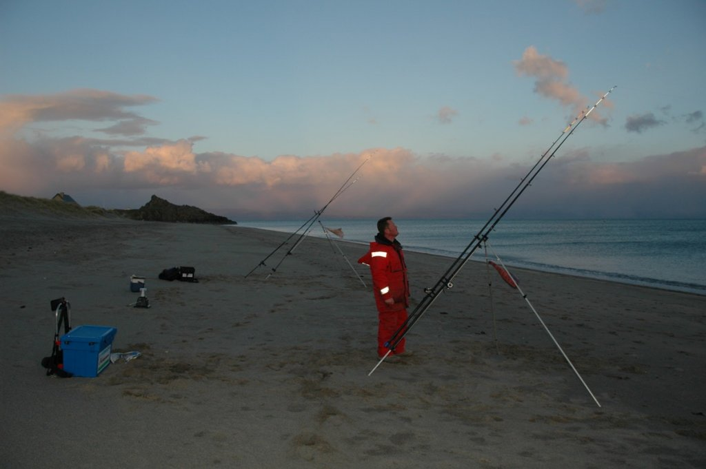 Surf fishing for cod