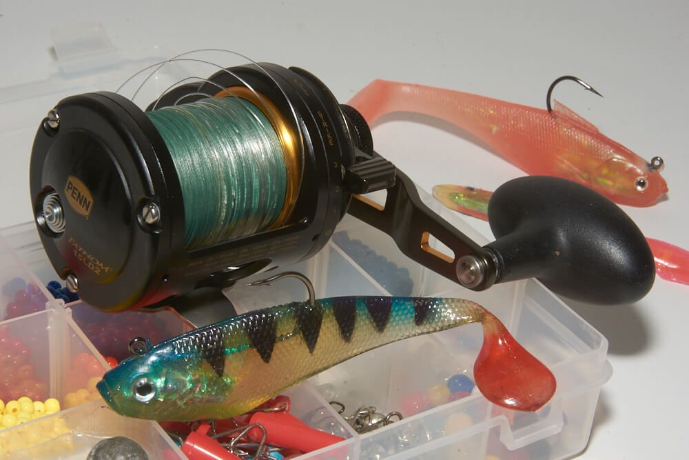 Braid loaded onto a 15lb class reel.